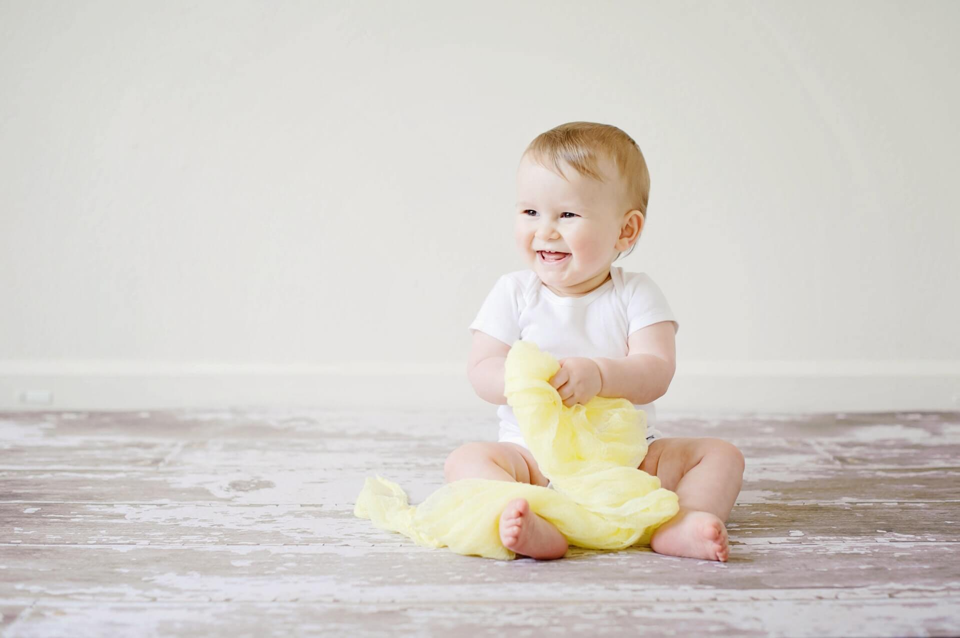 adorable baby cheerful