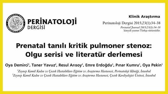 Fetal ekokardiyografi ile pulmoner stenoz makalesi